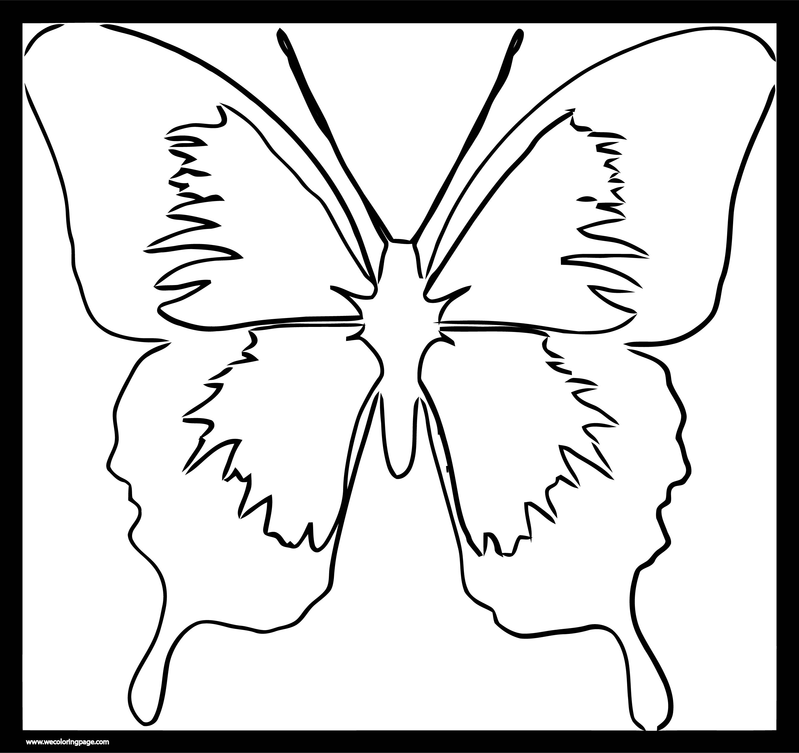 Butterfly Wings Clipart Panda Free Images Frame Coloring Page