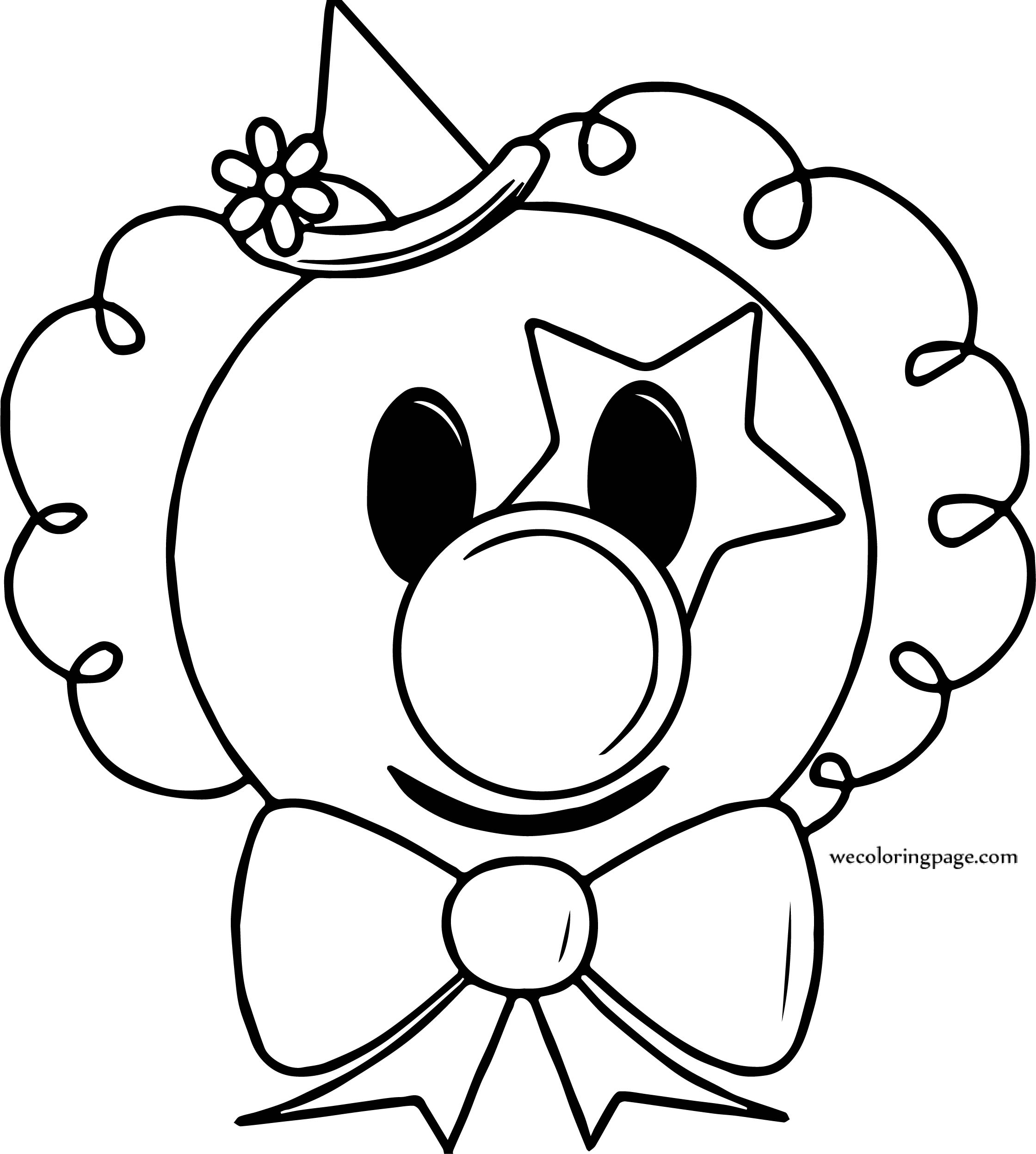 Circus Coloring Page Clown Face