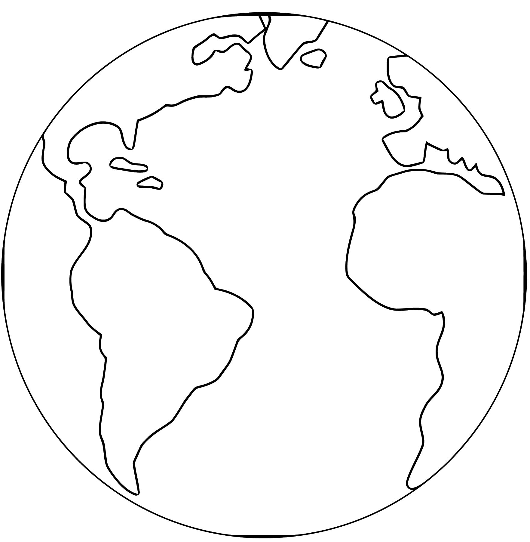 Earth Globe Coloring Page Wecoloringpage 025