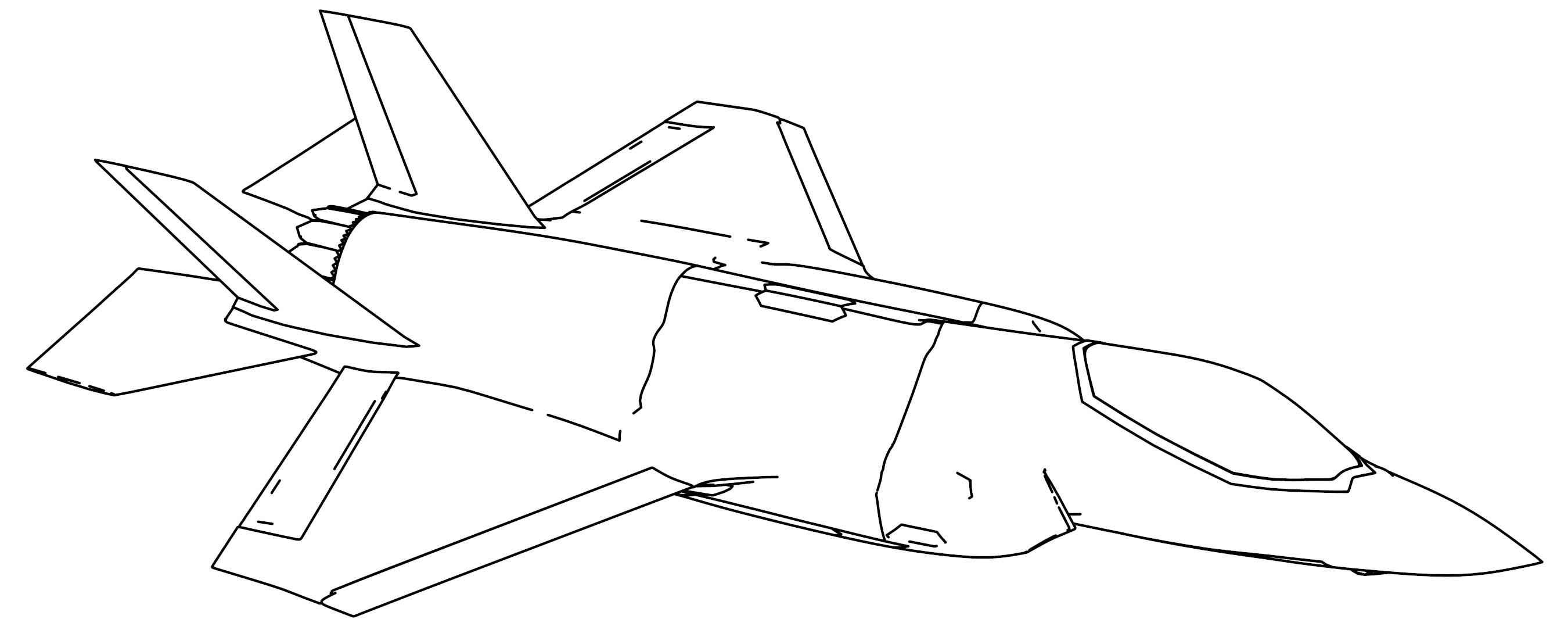 F 35a Lightning Ii Plane Coloring Page