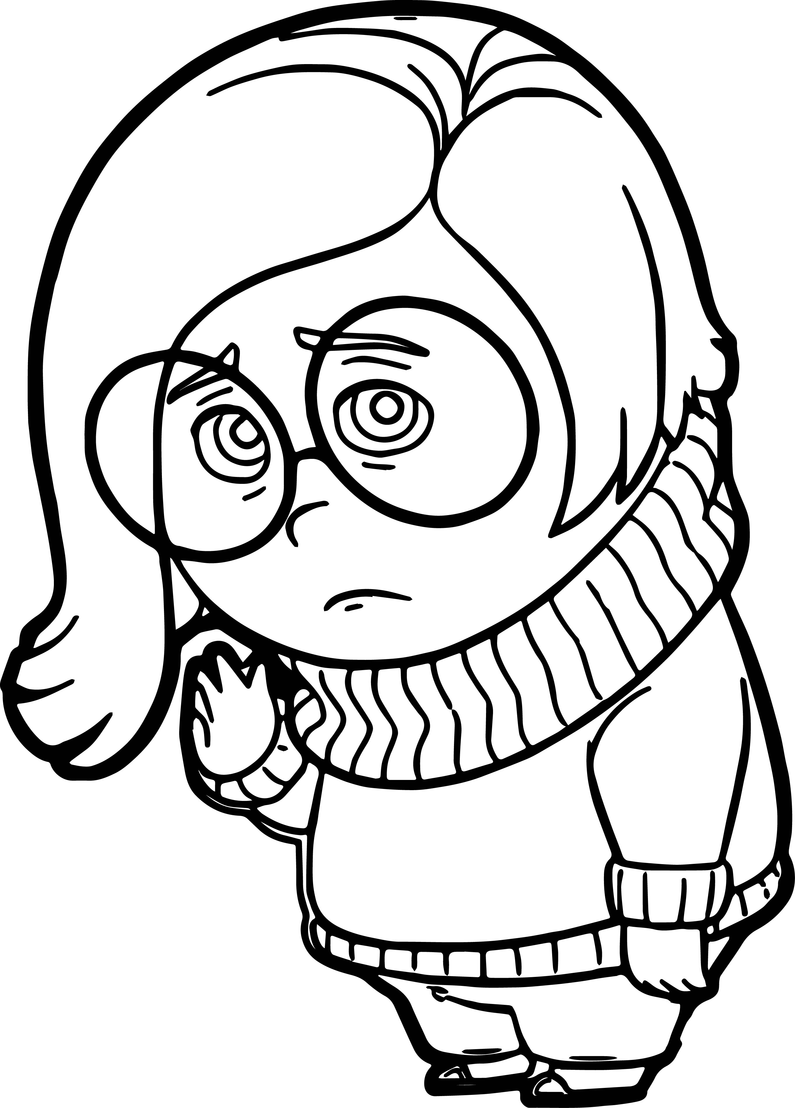 Sadness 4 Coloring Pages