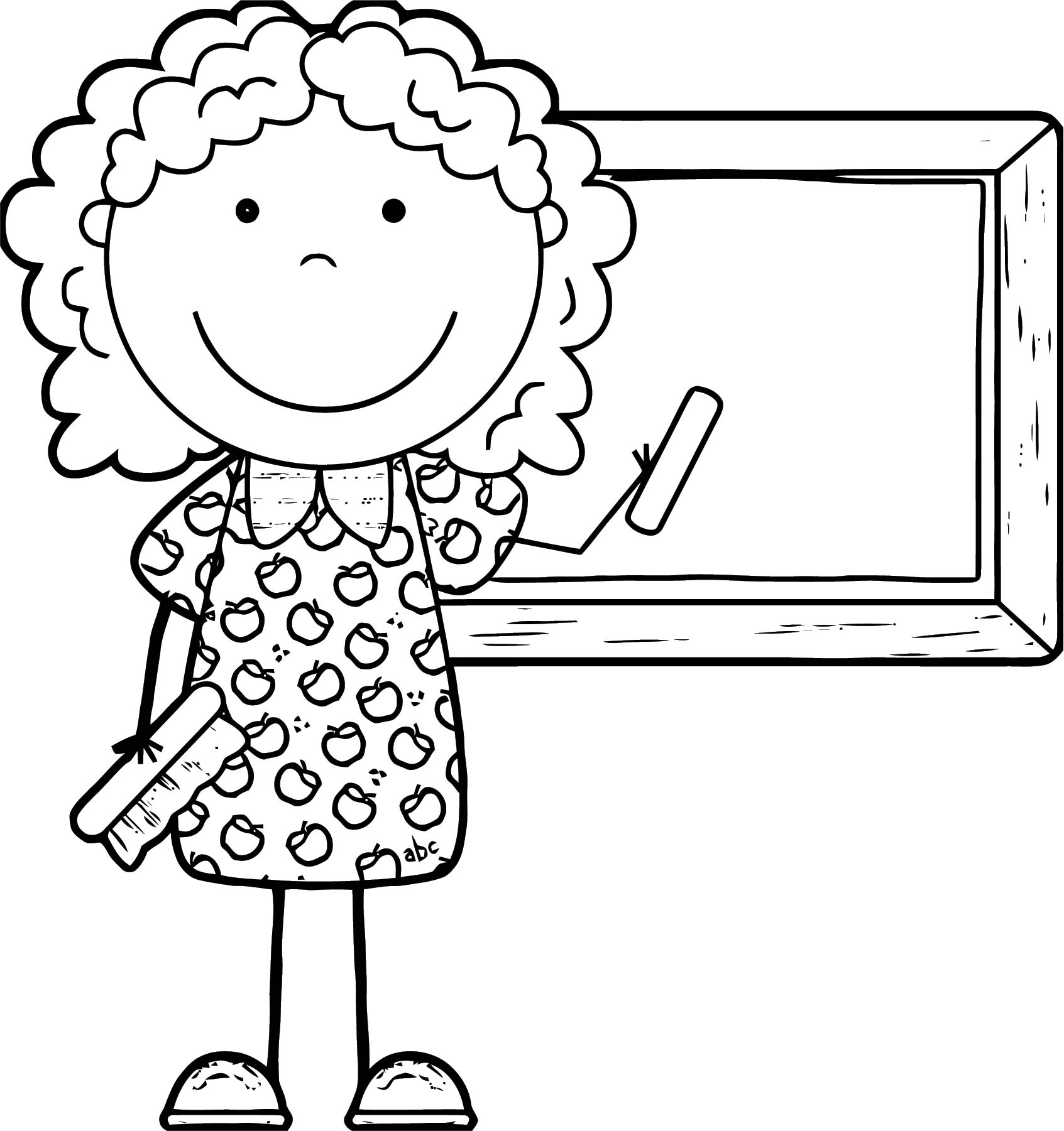 English Teacher We Coloring Page 076
