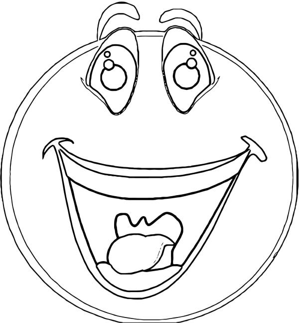 happy face coloring page # 77