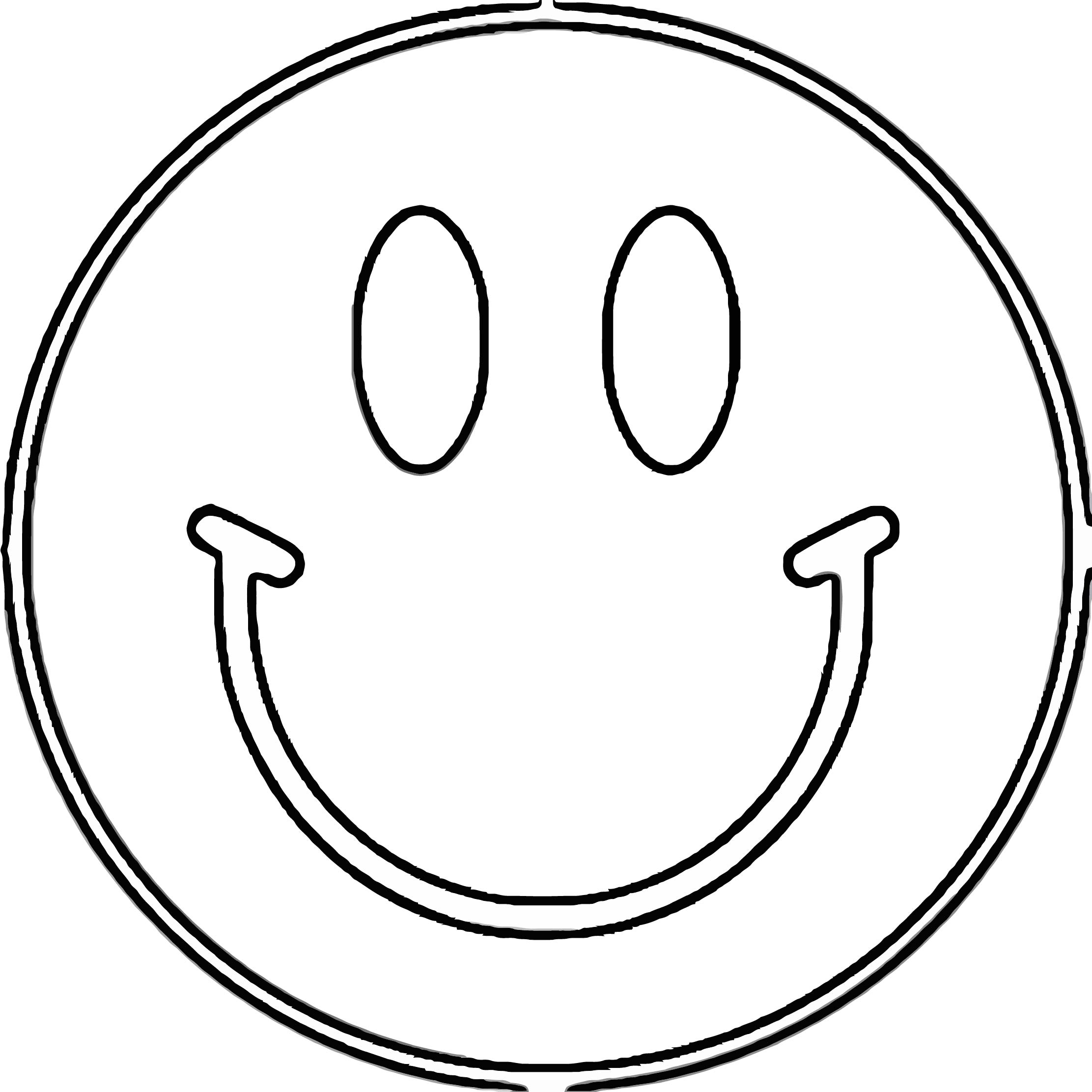 Face Happy Face Cute Coloring Page