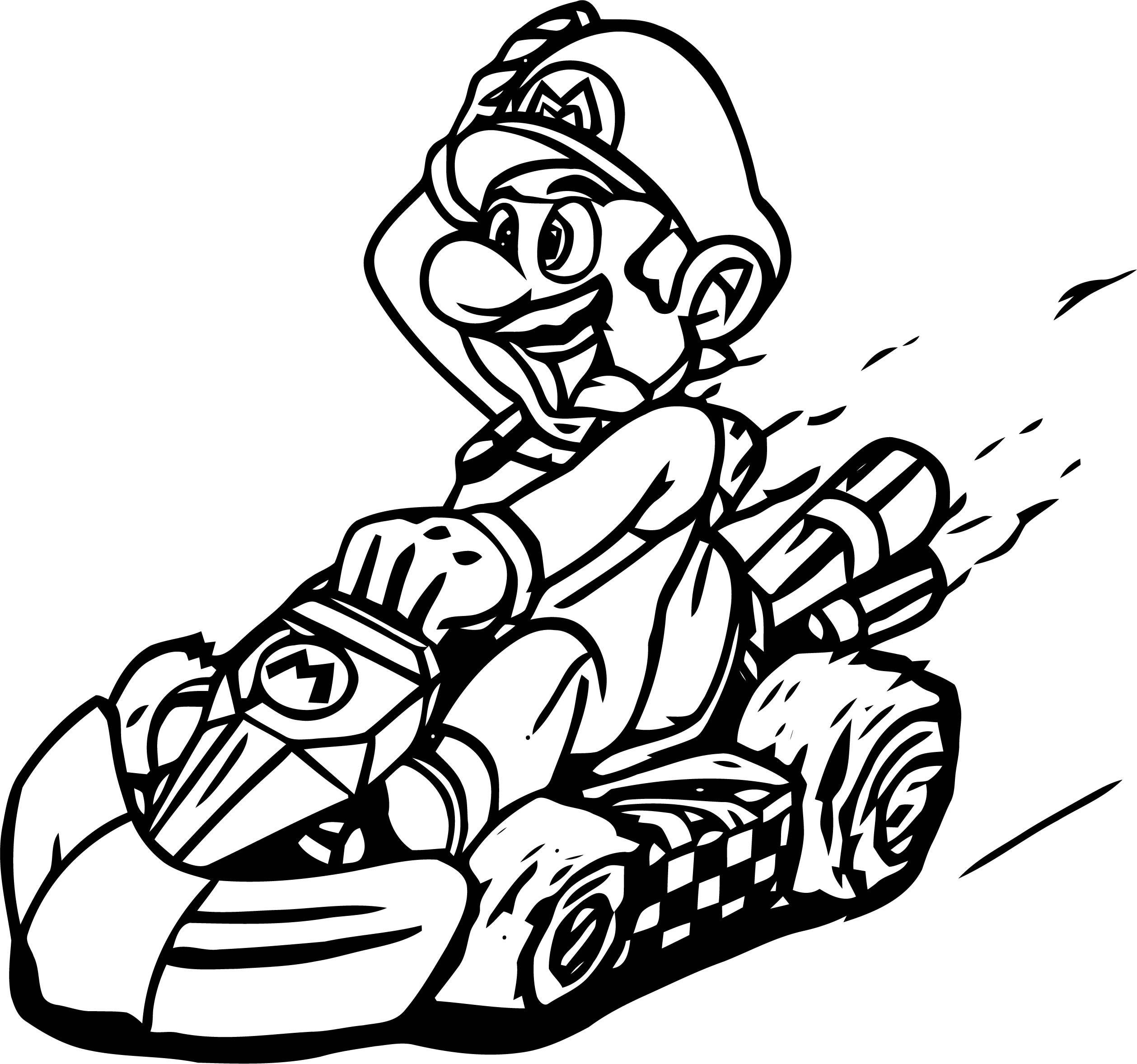 Mario Kart Wii Coloring Page