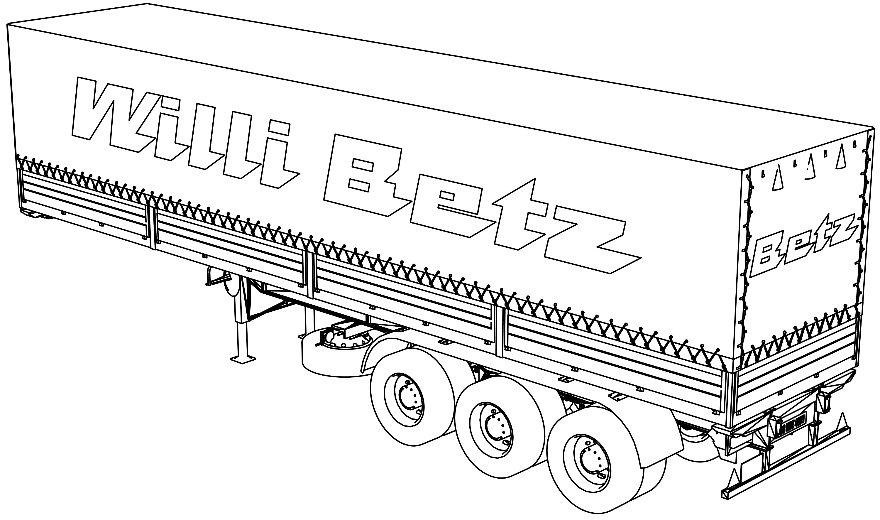Trailer Willibetz Coloring Page