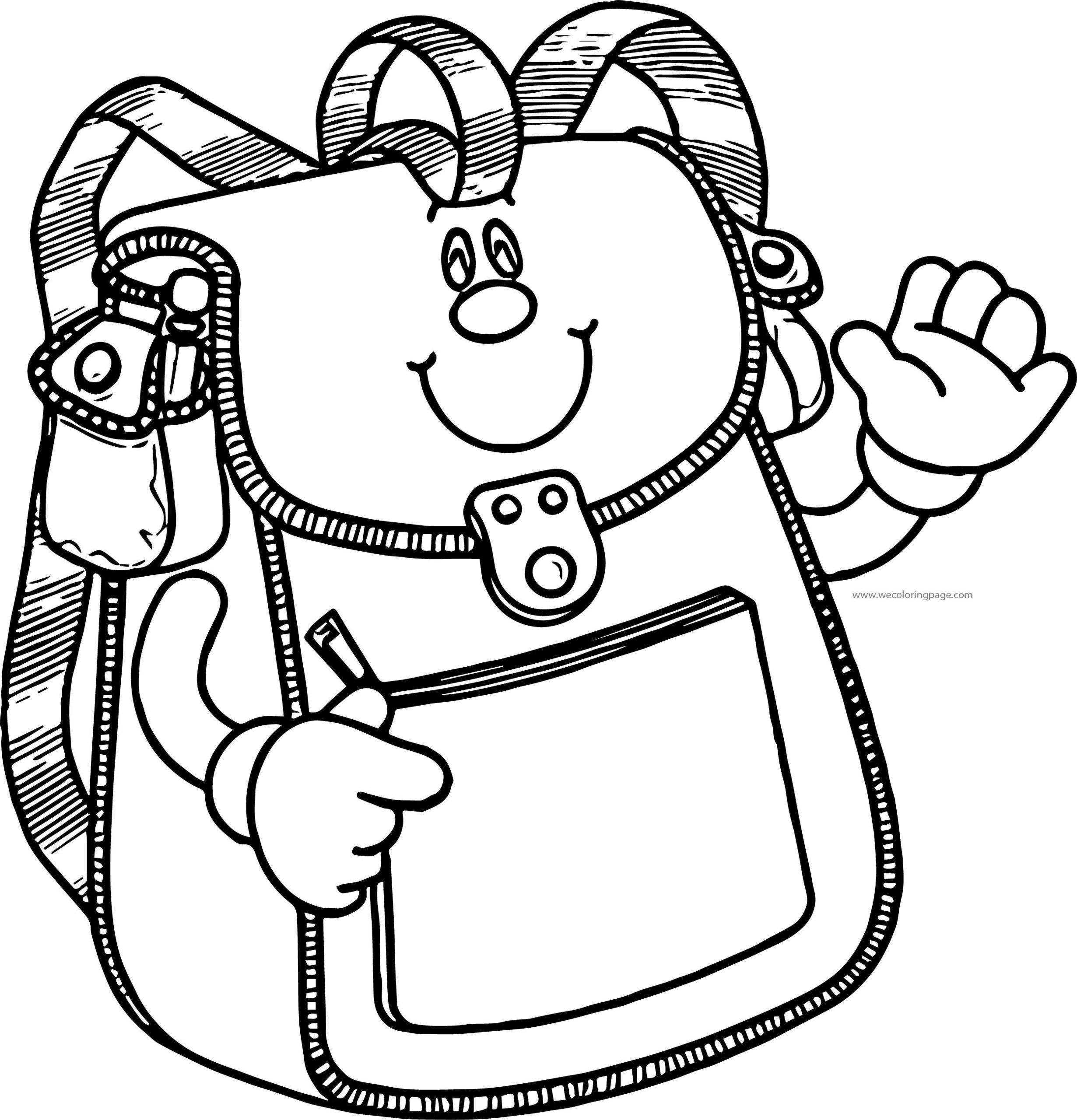 School Bag Coloring Page 74
