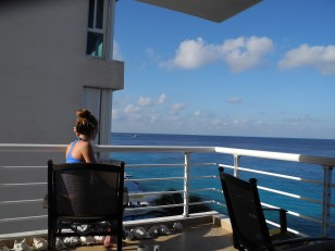 Watching the cruise ships come in.