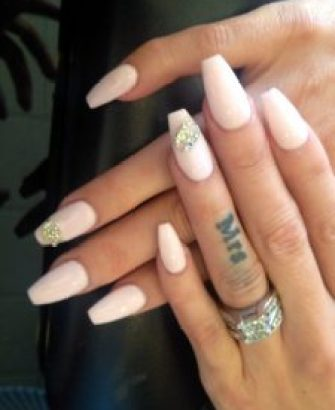 wedding day nails