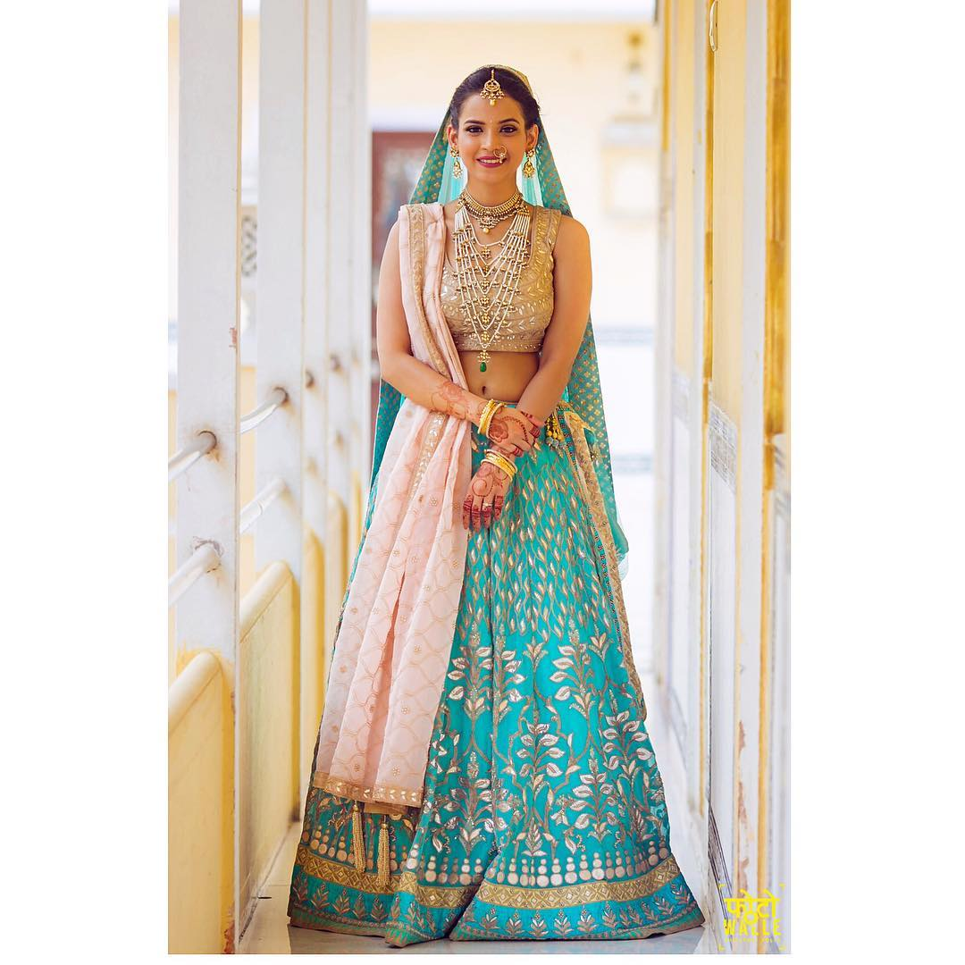 Blue Bridal Lehenga Design