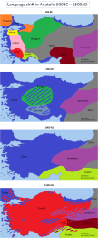 Approximate Language Identity Shift In Anatolia Between 500bc 1500 Ad Wedaneus