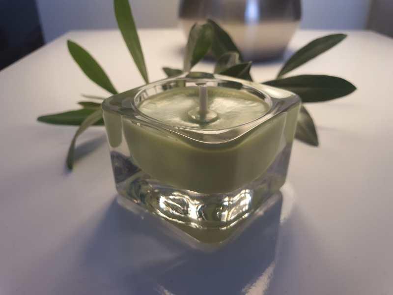 marturie lumanare parfumata verde