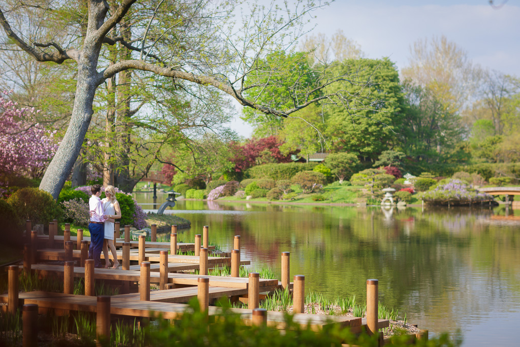 Samantha Jeffrey Missouri Botanical Garden Engagement