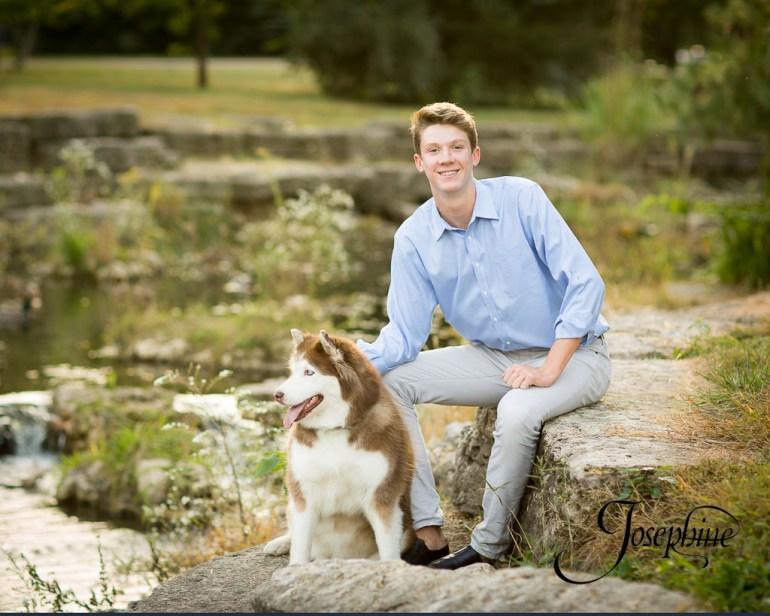 saint-louis-senior-portrait-photographer-john-burroughs-forest-park-with-dog-4