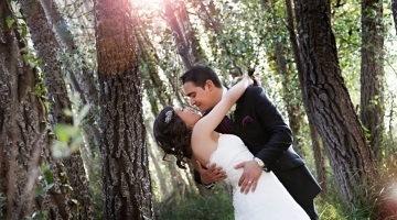 Schöne Hochzeit im Wald