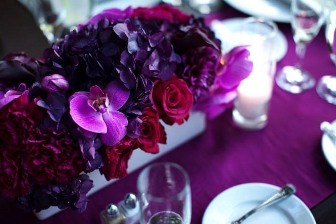 Purple Rose Flower Arrangements Wide Wallpaper