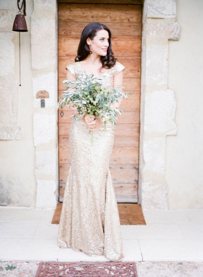 Beautiful Gold Wedding Dress