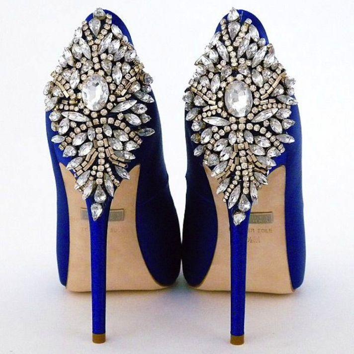 Wedding Shoe With Jewels on the Heel