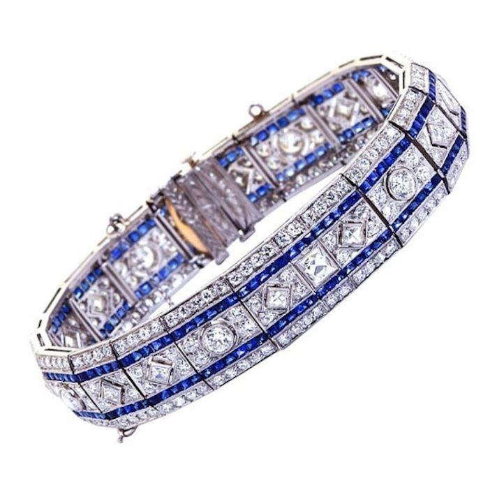 Art Deco Sapphire Bracelet