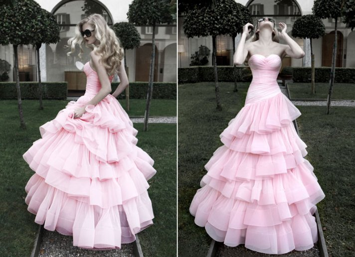 Would You Wear A Pink Wedding Dress?
