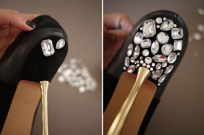 Casamento DIY projeto Miu Miu nupcial de cristal incrustado bombas saltos 3