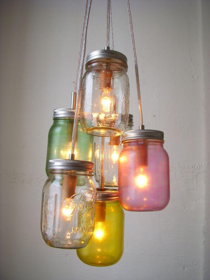 vintage wedding ideas mason jar chandeliers