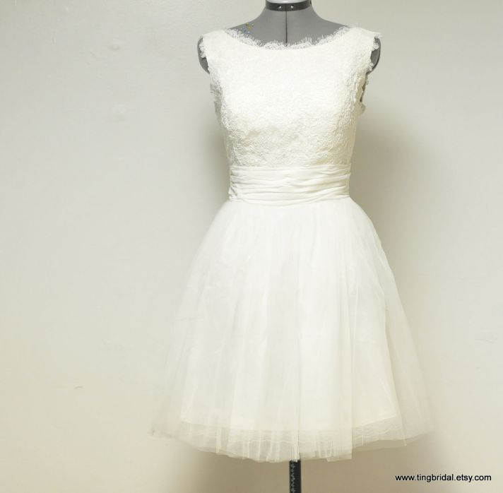 lovely lace LWDs for the brides wedding reception look tulle lace