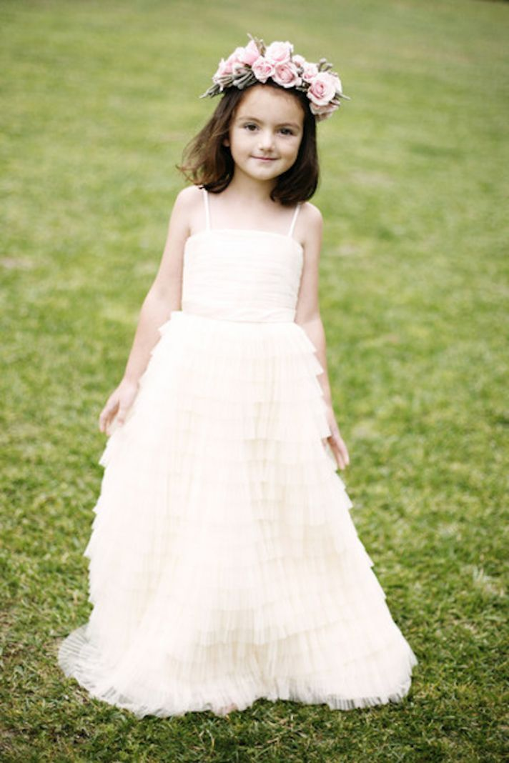 Flower Girl Dress with Tiered Skirt