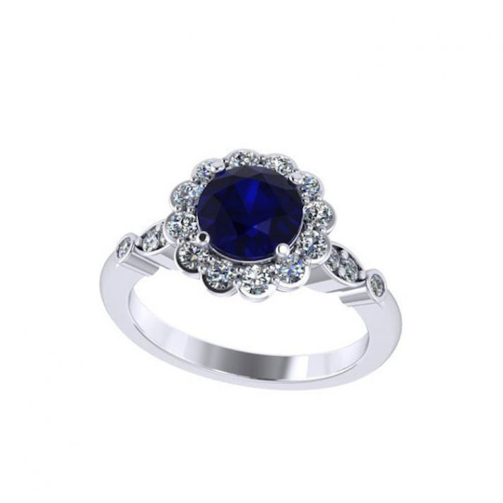 Floral Inspired Sapphire Ring