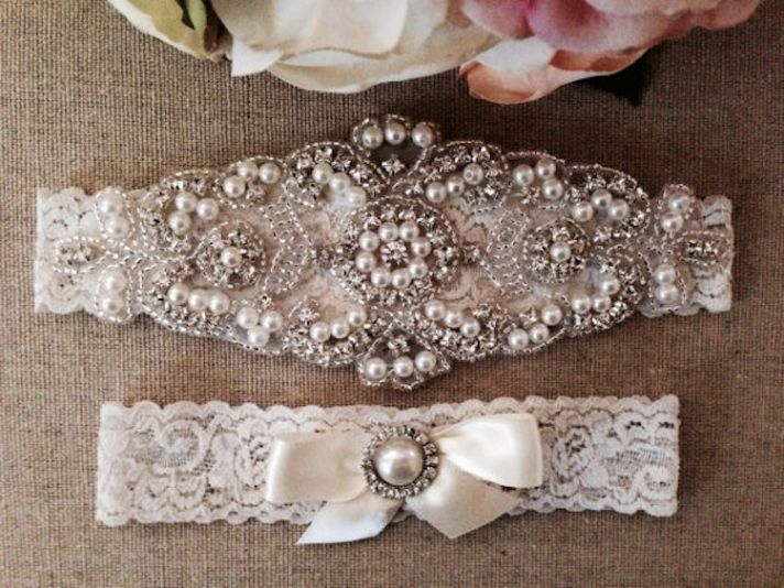 These Sweet & Sexy Wedding Garters Will Make Your Love's