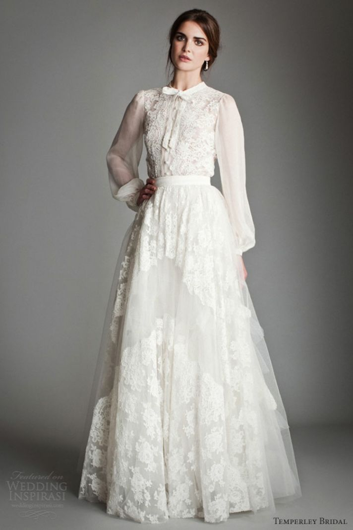 Shirtwaist Wedding Dresses Are Trending Now Crazyforus