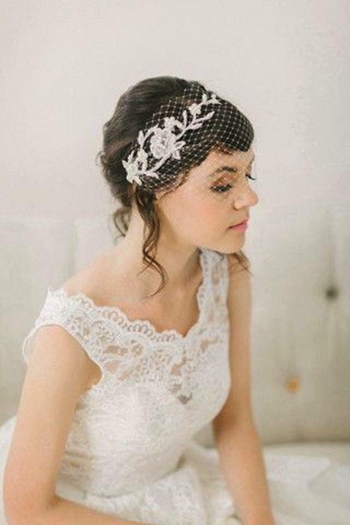 Beautiful Birdcage Bridal Veil