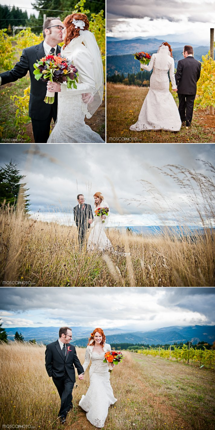 Vibrant Fall Wedding With A Vineyard Venue