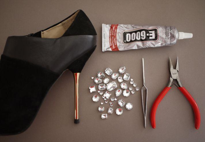DIY wedding project Miu Miu bridal pumps crystal encrusted heels 2