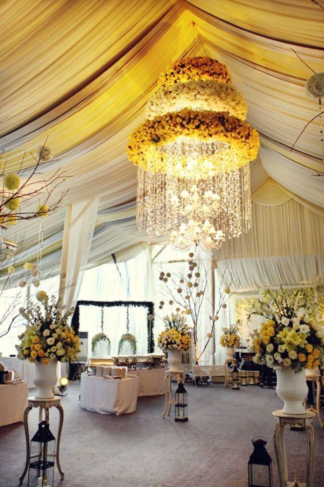 Wedding Ideas We Love Fl Adorned Chandeliers 7
