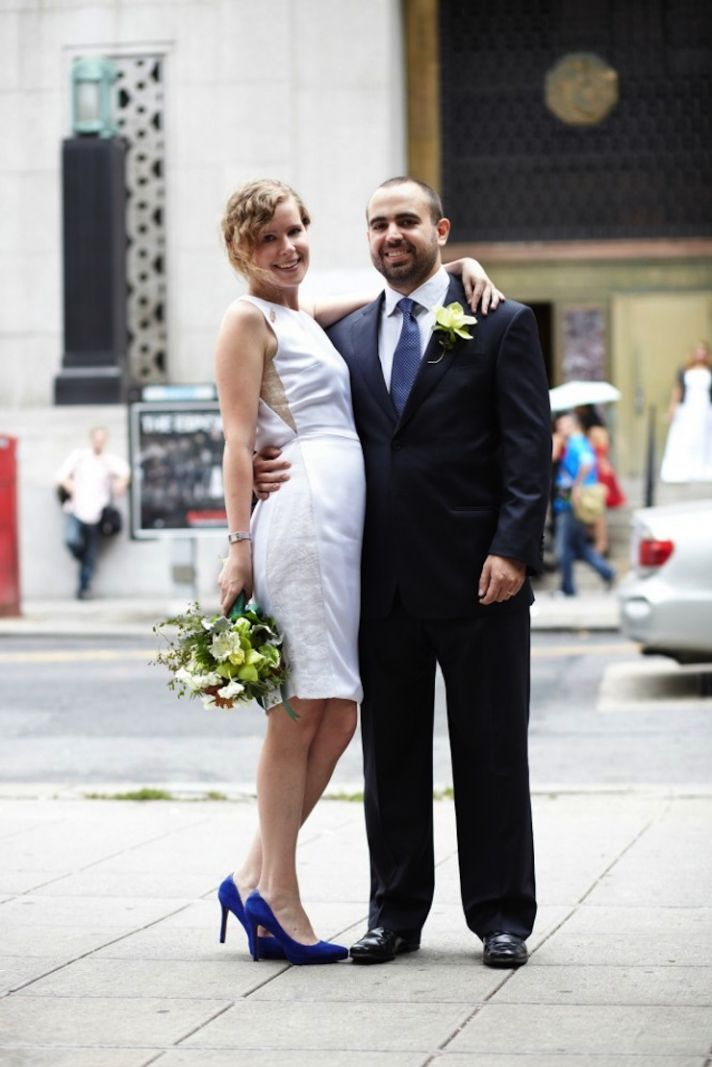 Cool Couple Chic At City Hall OneWed