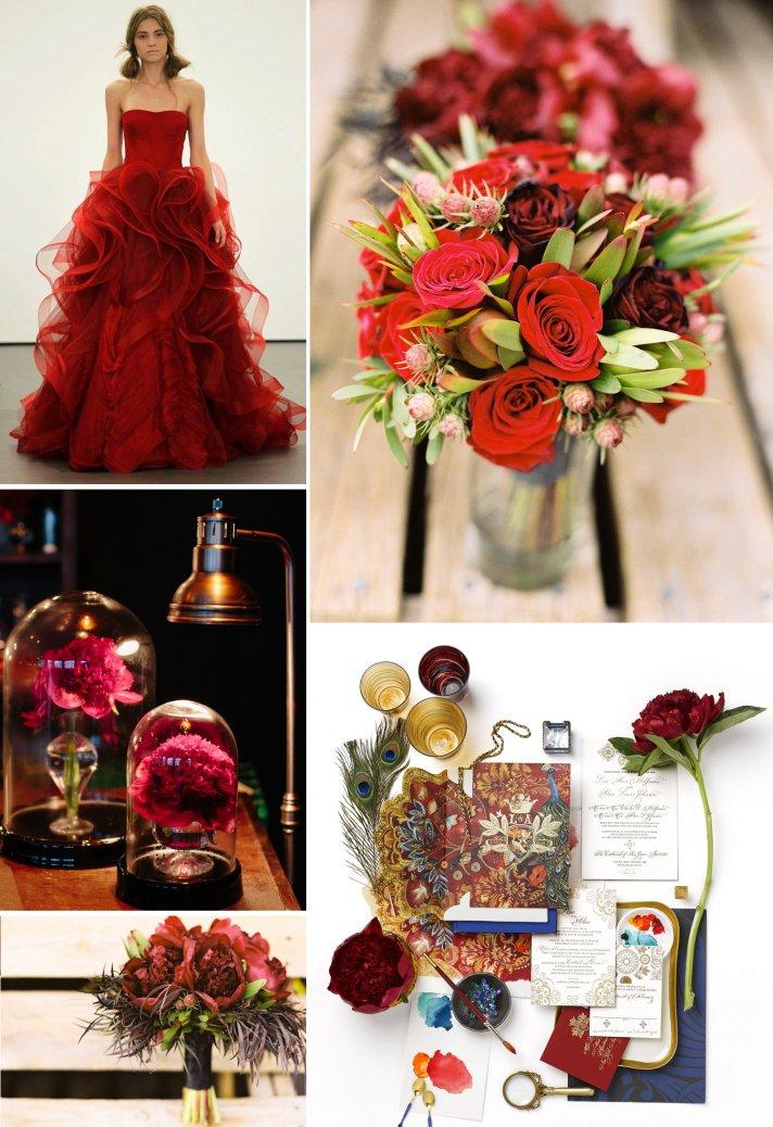 Hail Harvard With Crimson Wedding Inspiration