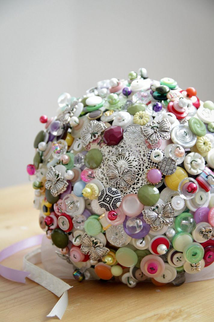 I Do Or I Don T To A Button Bridal Bouquet