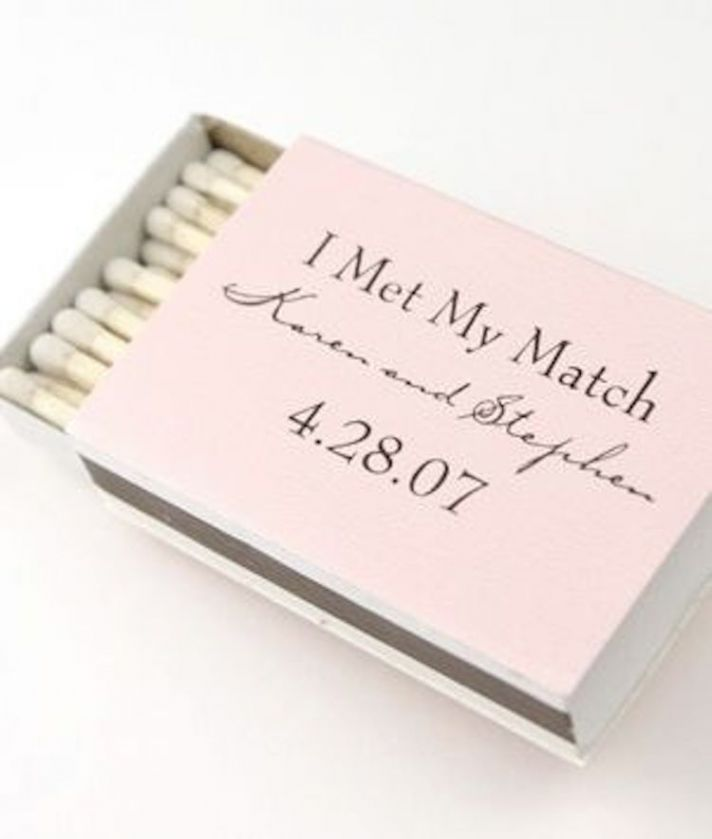 Matchbook Favor