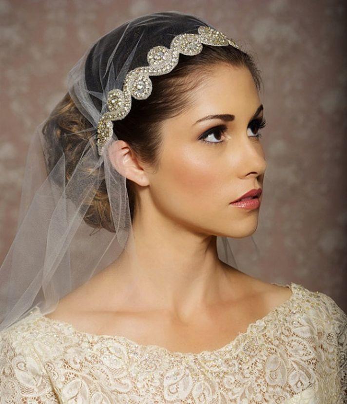 Jeweled Juliet Cap Bridal Veil