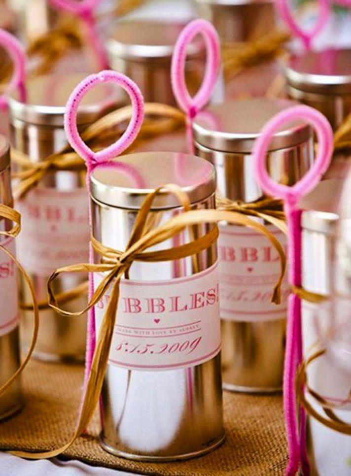 Memorable Wedding Send-Off With Bubbles