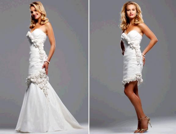 White sweetheart neckline mermaid wedding dress by David Tutera