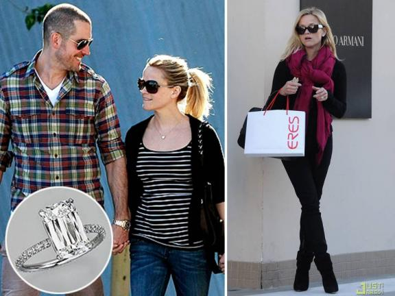 Reese Witherspoon is officially engaged, and her engagement ring rock is a