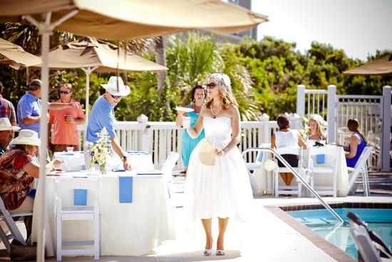 Outdoor Beach Wedding Reception Simple Tablescape
