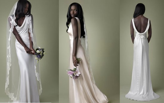 1940s Silk Wedding Dress Cowl Neck