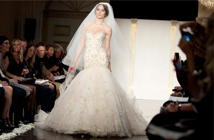 Lazaro Wedding Dress Blush 2012 Mermaid