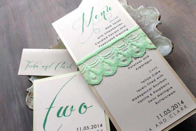 Wedding Invitation Cards Mint