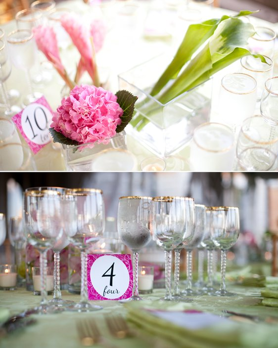 Pink And Green Outdoor Wedding Decor Ideas