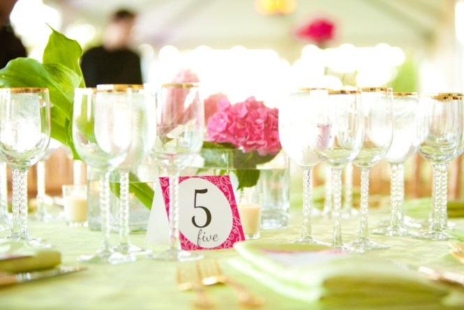 Pink Green Wedding Decorations On With And Theme Ideas