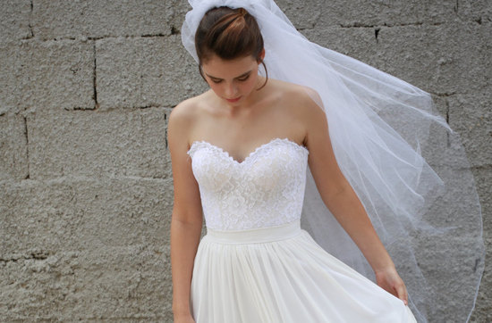Lace Drop Waist Mermaid Wedding Dress With Corset
